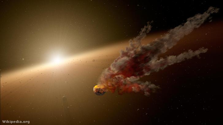 Művészi koncepció bolygók ütközéséről