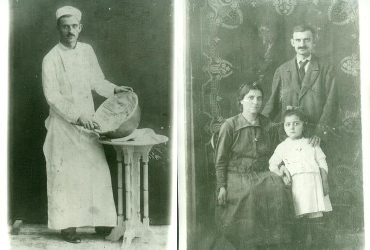 Abramovics Béla cukrászmester és családja