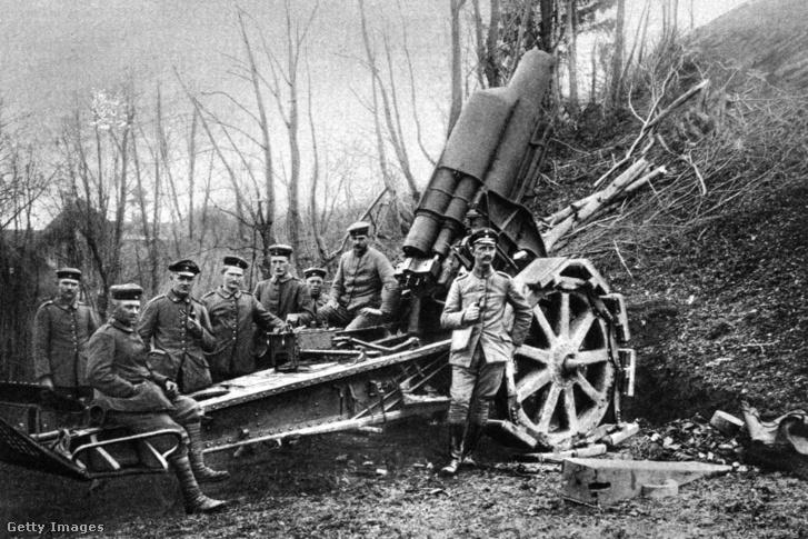 Román tüzérségi egység az első világháborúban
