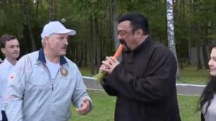 Steven Seagal megkóstolta a fehérorosz elnök répáját