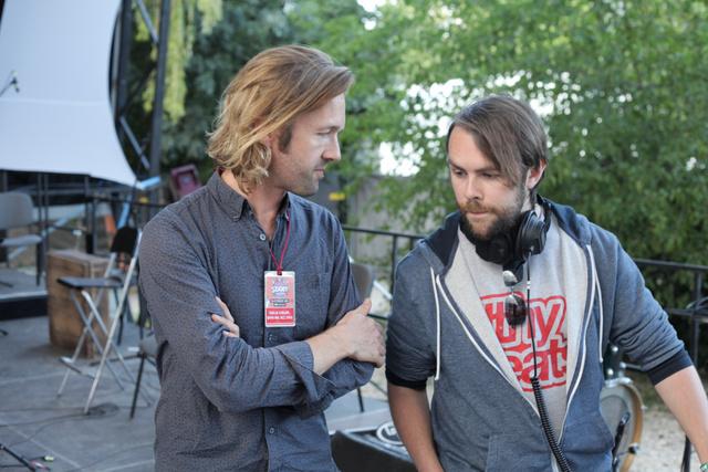 Gabriel Prokofjev állandó munkatársával, DJ Switch-csel a Szigeten