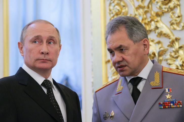 Vlagyimir Putyin és Szergej Sojgu