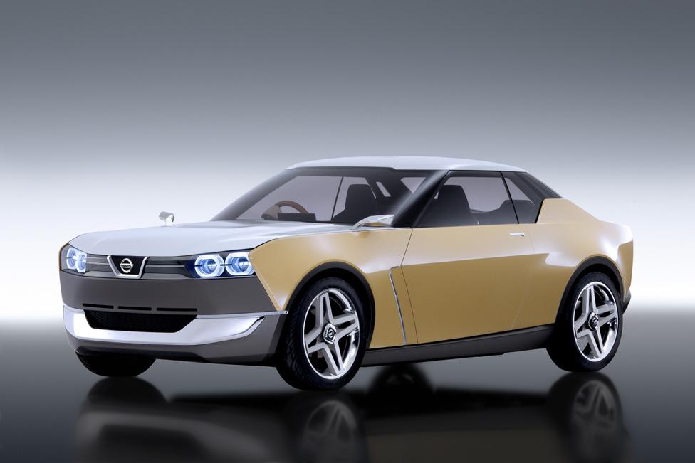 Nissan iDX, 2013: Imádnivalóra sikerült a Datsun 510-es mintájára készült kis Nissan kupé, az iDX. Kevés tanulmányautó ötvözi ilyen szépen a régit az újjal, nagyon jó arányban vannak jelen a stíluselemek. Az éles dobozforma nagyon intelligens részletmegoldásokat rejt: ilyenek például a klasszikus, Datsun tükrök az első sárvédőíven, vagy a csodás négyágú felnik. A kedves, retro fazonú Nissant David Beasley tervezőnek köszönhetjük.