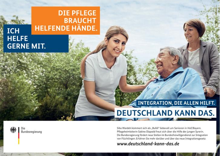 A német plakátok a beilleszkedést segítették
