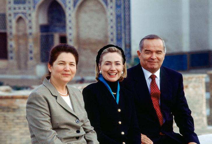 Hillary Clinton First Ladyként látogatta meg Karimovot 1997-ben