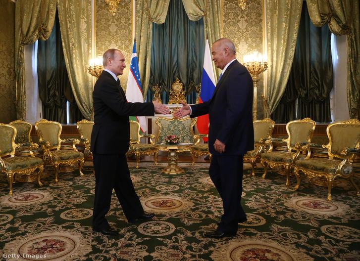Vlagyimir Putyin és Iszlam Karimov találkozója Moszkvában, 2016-ban.