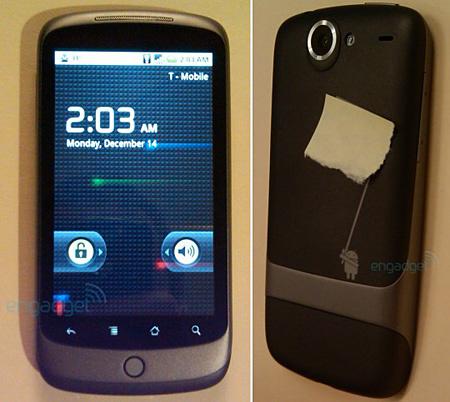 Kémfotón a Nexus One. Forrás: Engadget