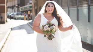 Íme egy plus-size menyasszony üzenete a nőkhöz