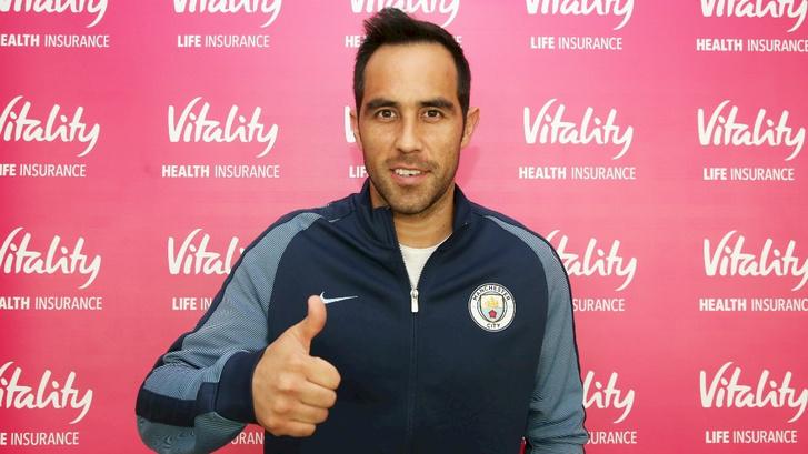 Claudio Bravo, az új City kapus.