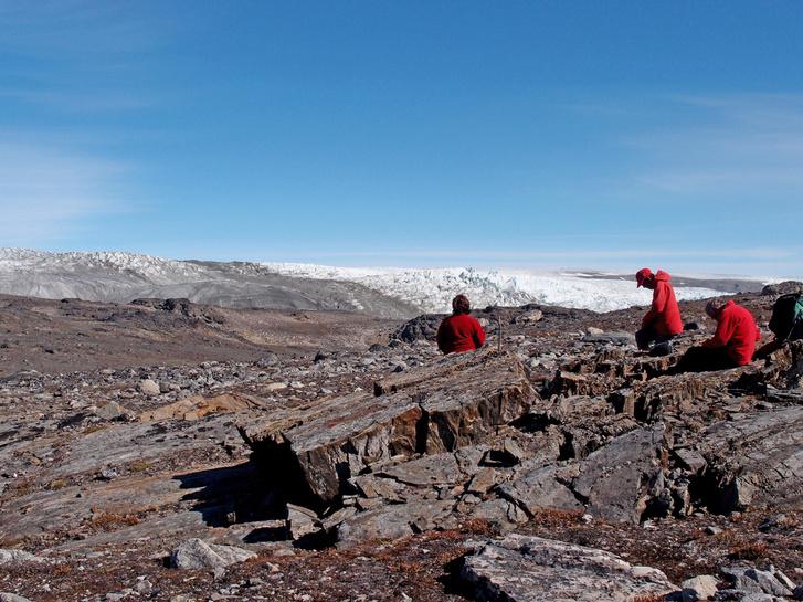 A felfedezés helyszíne Grönlandon