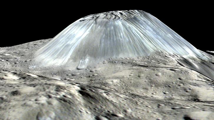 A jégvulkán 3D-s rajza