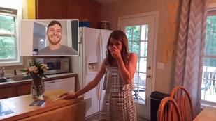 Férje jelentette be a feleségnek, hogy gyerekük lesz