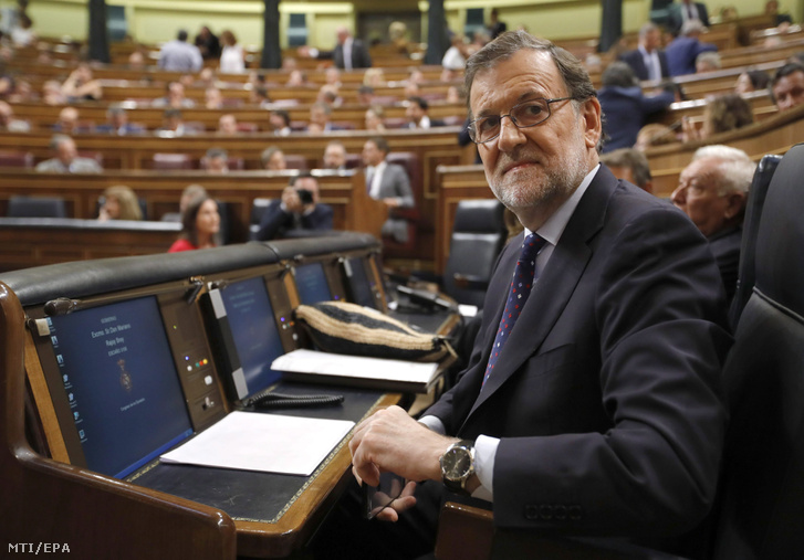 Mariano Rajoy a sikertelen szavazás után.