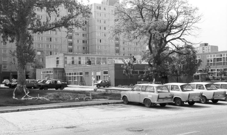 Székesfehérvári lakótelep a hetvenes évek végén