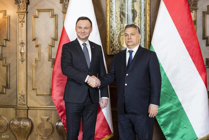 Andrzej Duda és Orbán Viktor Budapesten 2016. március 19-én