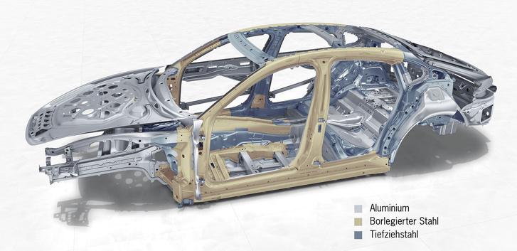 Alumíniumból és kétféle szerkezeti acélból áll össze a kaszni