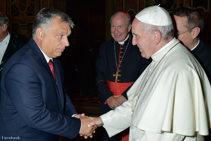 Orbán Viktor augusztusi vatikáni látogatása során Ferenc pápával is találkozott