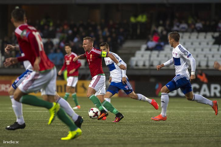 A Feröer-Magyarország mérkőzésen a tórshavni Nemzeti Stadionban 2016. szeptember 6-án