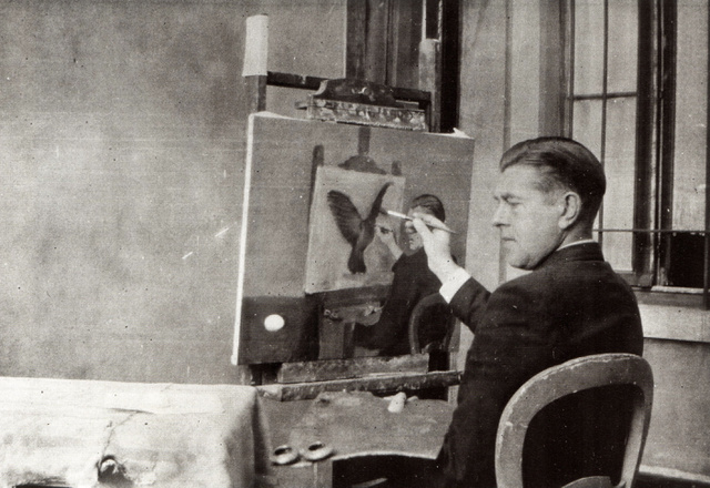 René Magritte alkotás közben (1936.)
