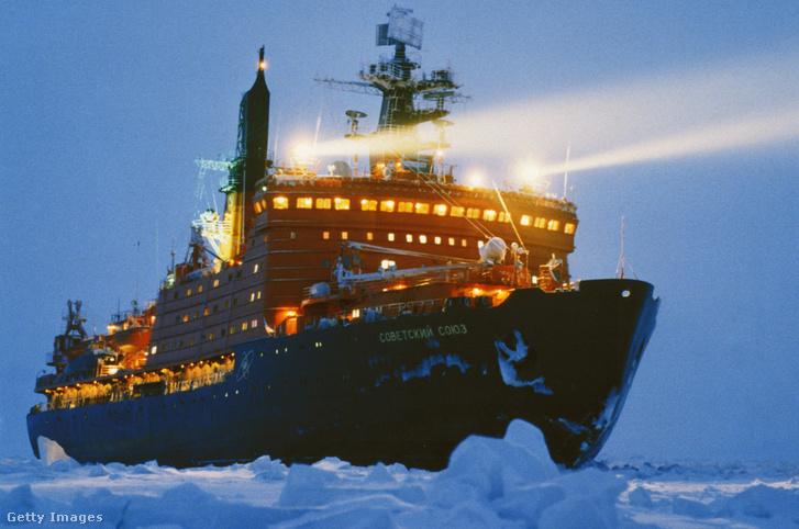 Orosz nukleáris hajtóművel szerelt jégtörő hajó