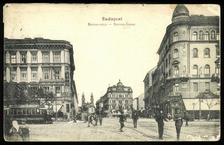 Itt kezdődött a Csirkekorzó: a Baross utca a Nagykörútról nézve a század elején