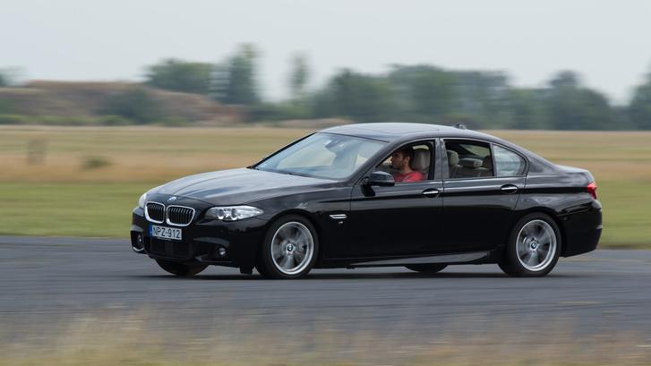 A BMW-t szinte lehetetlen kihozni a sodrából