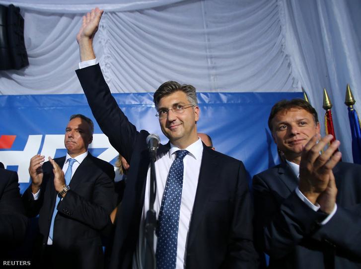 Andrej Plenkovic a jobboldali Horvát Demokratikus Közösség (HDZ) elnöke Zágrábban, 2016. szeptember 11-én.