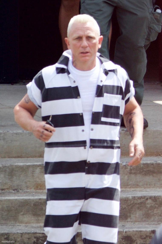 Daniel Craig az atlantai forgatáson