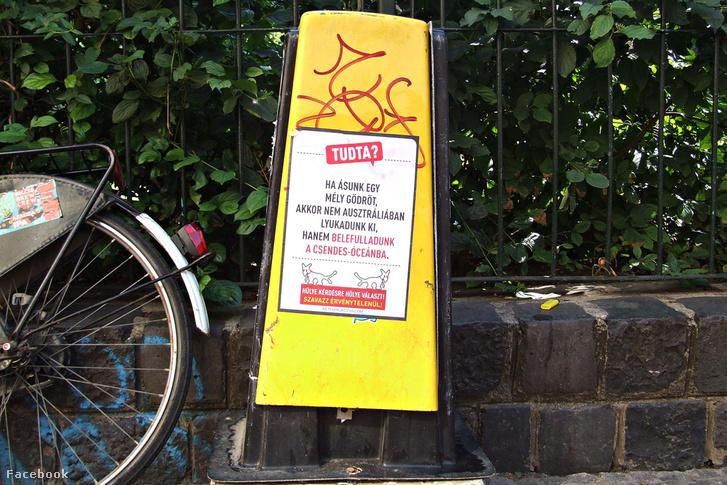 A Kétfarkú Kutyapárt érvénytelen szavazatokra buzdító plakátkampánya