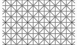 Bármennyire szeretné, nem láthatja a kép összes fekete pontját
