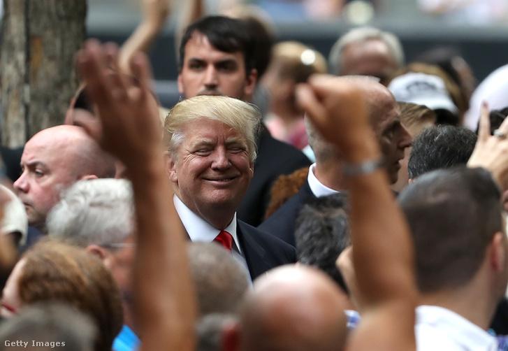 Donald Trump New Yorkban, 2016. szeptember 11-én.