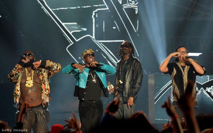 Rick Ross, P. Diddy, Future és Snoop Dogg az atlantai BET Fesztiválon 2013-ban.