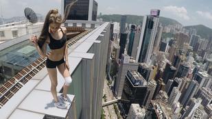 Ismerje meg az orosz modellt, aki felhőkarcolók tetején jógázik