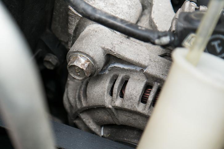 A generátort kettétörte a váznyúlvány