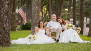 Előre megcsinálták az esküvői fotójukat beteg apjuk miatt