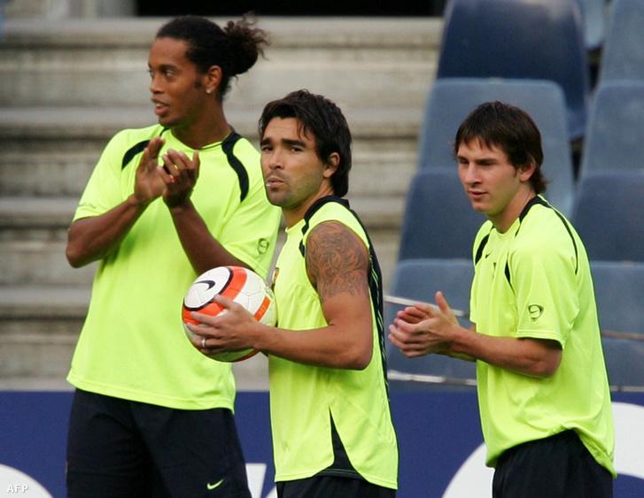 Messi együtt játszott Ronaldinhóval és Decóval is