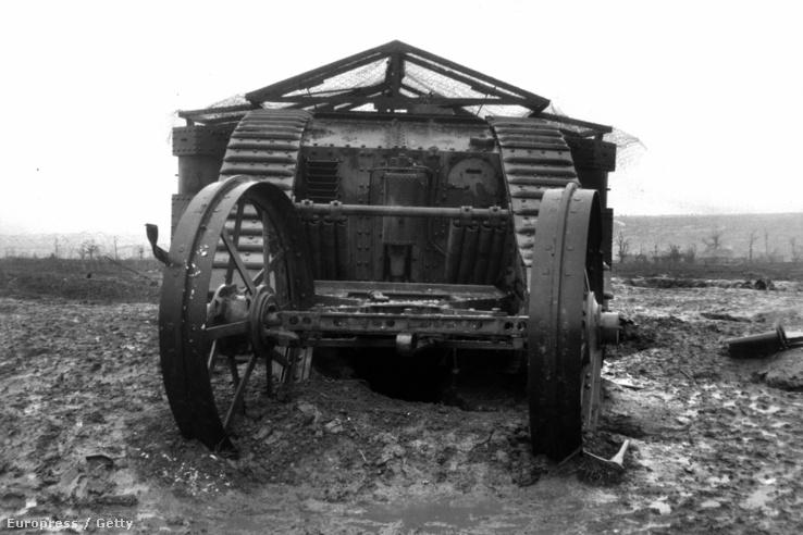Az brit hadsereg Mark 1-es tankja