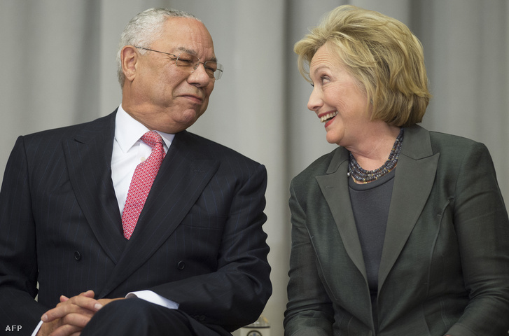 Colin Powell és Hillary Clinton