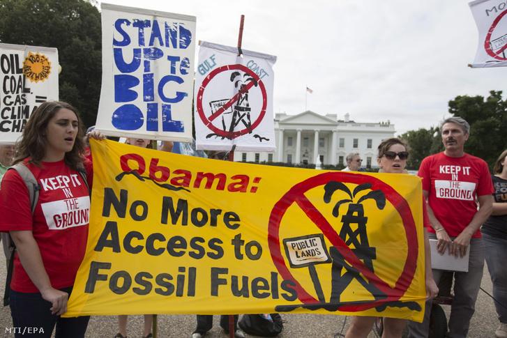 A környezetszennyezés elln tüntettek Washingtonban a konferencia előtt