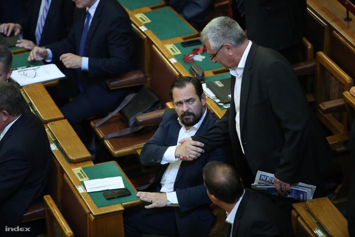 Mengyi Roland a Parlamentben.