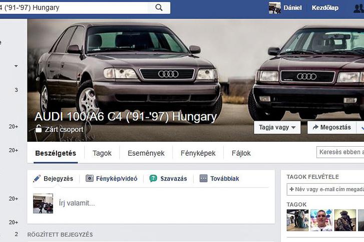 Könnyen megtaláltam a Facebook Audi 100/A6 csoportját