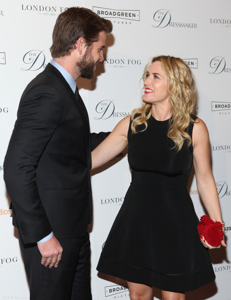 Liam Hemsworth Kate Winslet legújabb közös filmjük bemutatóján.