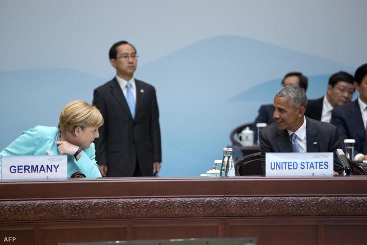 Merkel és Obama a szeptemberi kínai G20-találkozón