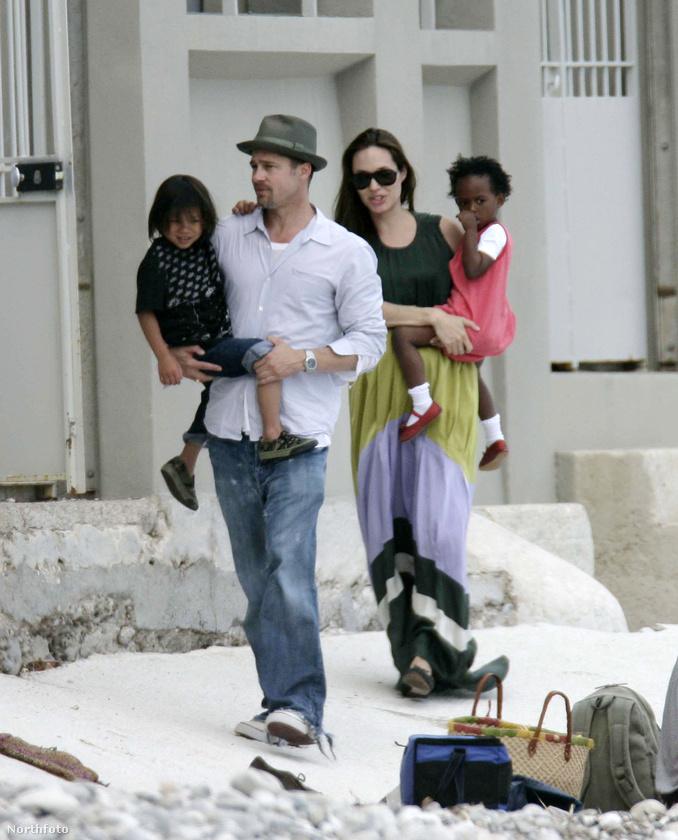 2007.A pár örökbe fogadott egy vietnami származású kisfiút, Pax Thient