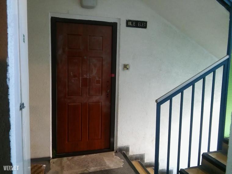 Irma ebben a lakásban élt egyedül, a rendőrök egész éjjel helyszíneltek, majd az ajtót lezárták.