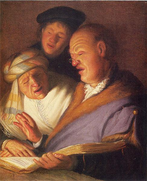 Rembrandt: A három énekes - Hallás