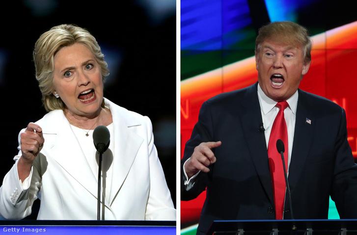 Clinton és Trump