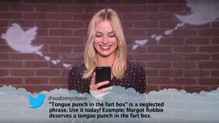 Ryan Gosling, Margot Robbie és Hugh Grant gonosz tweeteket olvastak fel