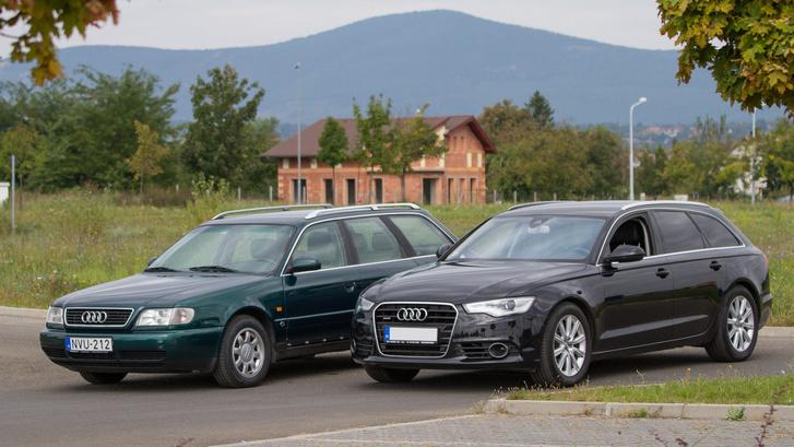 Egyenes vonalakkal határolt a régi, pedig ezt is anno gömbölyűnek hívták a Szivar Audi után.