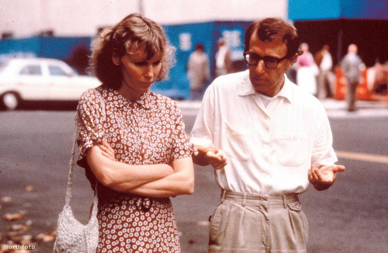 Mia Farrow és Woody Allen, a Hannah és nővérei forgatásán